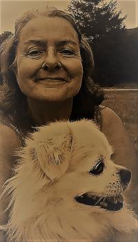 Eva med hund