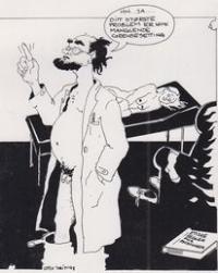 Tegning av psykolog