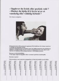 Informasjonsplakat om kurs for kvinner i voldelige og vanskelige forhold
