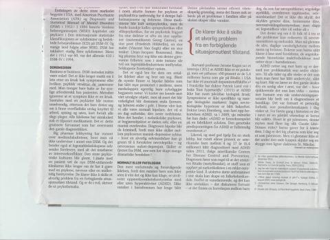 Faksimile av andre halvdel av kommentaren «Patologisering av livet», gjengitt med tillatelse fra Le Monde diplomatique